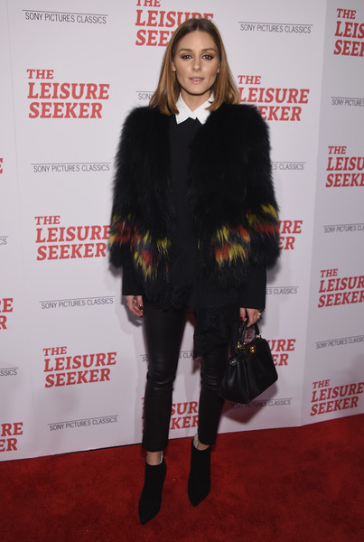 Olivia Palermo Leather Purse [the leisure seeker,fur clothing,fashion model,flooring,fur,fashion,outerwear,carpet,long hair,fashion design,olivia palermo,new york,amc loews lincoln square,screening,new york screening]