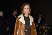 Olivia Palermo Leather Coat
