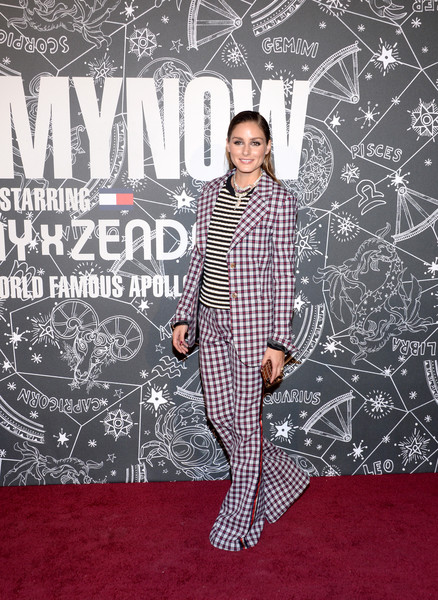 Olivia Palermo Pantsuit [red carpet,carpet,flooring,premiere,pajamas,pattern,formal wear,suit,style,performance,tommynow,front row,atmosphere,front row atmosphere,tommynow new york,new york,the apollo theater,olivia palermo]