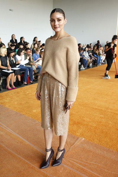 Olivia Palermo Boatneck Sweater [shows,fashion,runway,fashion model,fashion show,clothing,footwear,fashion design,public event,human,model,sally lapointe,olivia palermo,the shows,front row,new york city,new york fashion week]