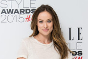 Olivia Wilde Metallic Clutch