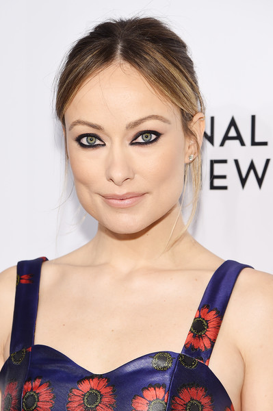 Olivia Wilde Messy Updo [hair,face,hairstyle,shoulder,eyebrow,clothing,beauty,skin,lip,neck,arrivals,olivia wilde,new york city,cipriani 42nd street,the national board of review annual awards gala,national board of review annual awards gala]