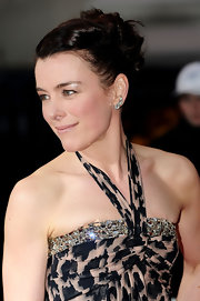 Olivia Williams pulled her tresses up in a twisted bun at the Olivier Awards 2011.
