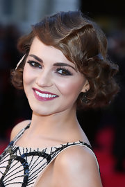 Kara Tointon wore her hair in an adorable style at the 2012 Olivier Awards that featured pretty Marcel waves and a sparkly barrette.