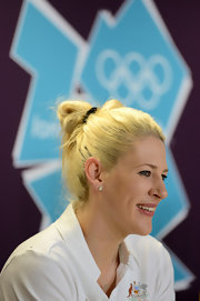 Lauren Jackson pulled her hair up in a knot for the Olympics opening.