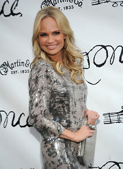Kristen Chenoweth styled her hair in long loose spiral curls for the opening night of 'Once' on Broadway.
