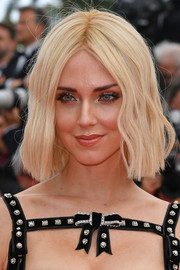 Chiara Ferragni wore a center-parted blonde bob at the 2019 Cannes Film Festival screening of 'Once Upon a Time in Hollywood.'