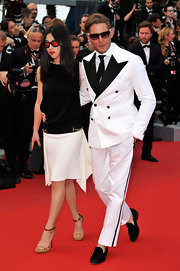 Lapo Elkann paired suede loafers with his black-and-white suit when he attended the Cannes Film Festival.