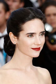 Jennifer Connelly wore her hair styled in a sleek chignon for the premiere of 'Once Upon a Time.'
