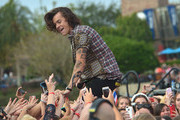 Harry Styles of One Direction appears on NBC's Today Show to release their new album