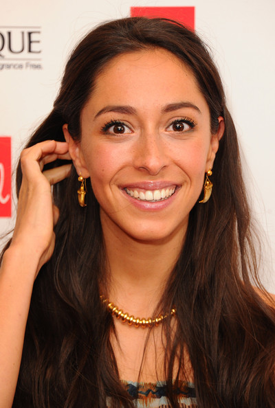 Oona Chaplin Gold Dangle Earrings [hair,eyebrow,face,hairstyle,skin,lip,forehead,beauty,cheek,chin,arrivals,red,oona chaplin,awards,england,london,ham yard hotel,magazine,red women of the year awards,women of the year]