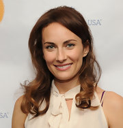 Laura Benanti attended a play reading of 'Collected Stories' wearing her wavy tresses casually styled.