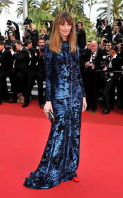 We were taken aback by Gaia at the Cannes Festival in a beaded velvet midnight blue number.