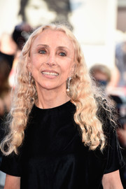 Franca Sozzani attended the Venice Film Festival opening ceremony sporting her trademark tight waves.
