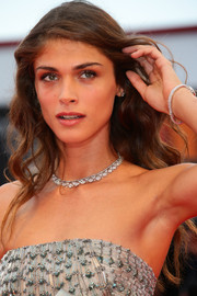 Elisa Sednaoui opted for a loose wavy hairstyle when she attended the Venice Film Festival opening ceremony.