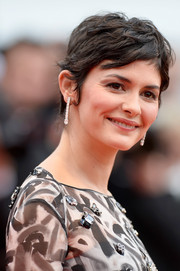Audrey Tautou sported a messy-chic pixie at the 'Grace of Monaco' premiere.