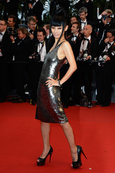Bai Ling's beaded gunmetal dress showed off the star's edgy style.