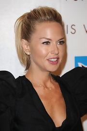 Looking refreshed Rachel Zoe showed off her sleek ponytial.