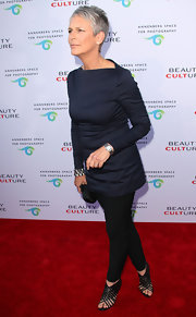 Jamie Lee Curtis' basket weave sandals were intricate and delicate.