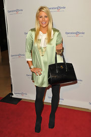 "Shayne's patent leather crocodile ""Birkin"" bag is a staple among celebrities in Hollywood."