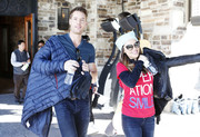Chrishell Stause looked cute wearing these cateye sunnies at the Celebrity Ski & Smile Challenge.
