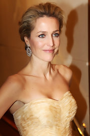 Gillian Anderson wore her hair in a sophisticated updo at the 2012 Orange British Academy Film Awards.