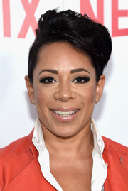 Selenis Leyva channeled Elvis with this pompadour at the 'Orange is the New Black' FYC screening.