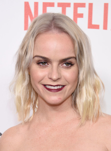 Taryn Manning topped off her look with this edgy wavy hairstyle for the New York premiere of 'Orange is the New Black.'
