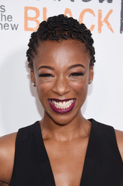 Samira Wiley rocked close-cropped curls at the New York premiere of 'Orange is the New Black.'