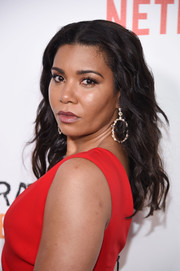 Jessica Pimentel wore her hair loose with elegant, piecey waves for the New York premiere of 'Orange is the New Black.'
