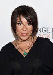Selenis Leyva topped off her look with a graduated bob when she attended the Orangecon fan event.
