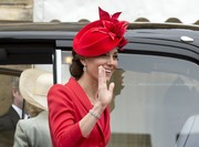 Kate Middleton showed off a lovely diamond bracelet while waving to spectators during the Order of the Garter service.