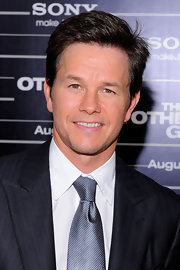 Mark Wahlberg showed off his sleek side cut while hitting the premiere of 'The Other Guys'.