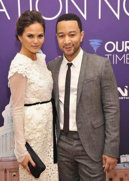 More Pics of Chrissy Teigen Bobby Pinned Updo (5 of 8) - Updos Lookbook - StyleBistro
