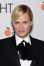 Judith Godreche opted for a neat short 'do when she attended the New York premiere of 'The Overnight.'