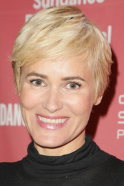 Judith Godreche sported a cute pixie cut at the Sundance premiere of 'The Overnight.'