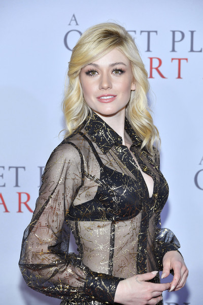 More Pics of Katherine McNamara Sheer Dress (1 of 2) - Katherine McNamara Lookbook - StyleBistro