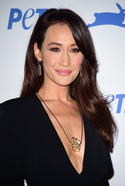 Maggie Q looked lovely wearing this gently wavy hairstyle during PETA's 35th anniversary party.