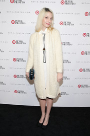 Cory Kennedy attended the Peter Pilotto for Target launch wearing what seemed to be an oversized white cardigan.