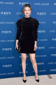 Ellen Pompeo kept it classic in a little black velvet dress at the 2018 Incredible Women Gala.