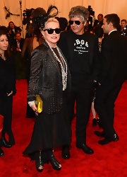 The original queen of punk, Debbie Harry, rocked this studded black blazer for her appearance at the Met Gala.