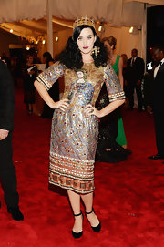 Katy Perry chose this over-the-top embellished frock that totally embraced the punk theme of the 2013 Met Gala.