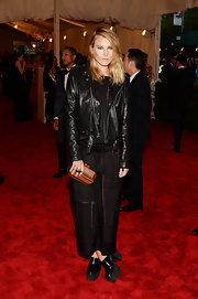 Dree Hemingway's black leather jacket totally topped off her punk look at the Met Gala.