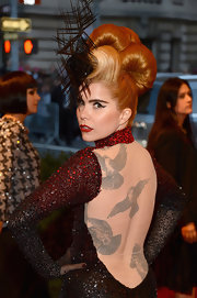 Paloma Faith chose a retro 'do for her look at the Met Gala.