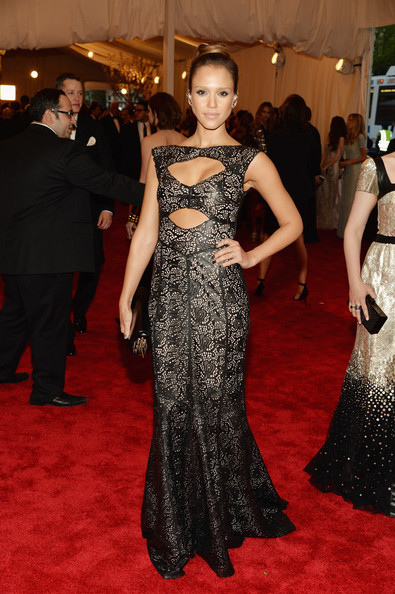 Leather and Lace Tory Burch at the 2013 Met Gala