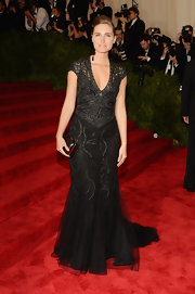 Lauren Bush Lauren chose a black lace gown for her look at the 2013 Met Gala.