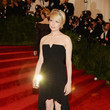 Michelle Williams in a Black Fishtail Dress