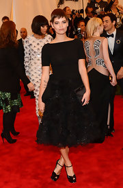 Pixie Geldof chose this black frock with a full skirt for her monochromatic look at the Met Gala.
