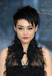 Rinko Kikuchi looked super cool with her mussed-up pixie at the London premiere of 'Pacific Rim.'