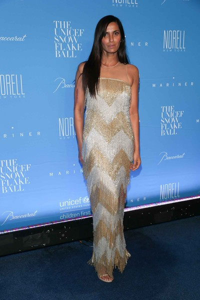 Padma Lakshmi Beaded Dress